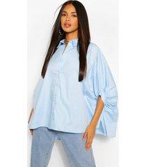 oversized overhemd, blauw