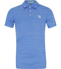 camisa polo fila action ii - masculina - azul