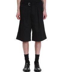 attachment shorts in black cotton