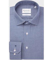 michaelis / wit birdseye shirt van