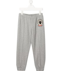 mini rodini octopus patch track pants - grey