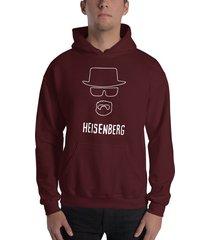 buzo capota breaking bad heisenberg sombrero silueta estampado blanco