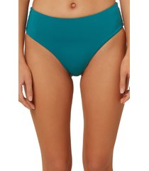 women's o'neill saltwater high waist bikini bottoms, size medium - blue/green