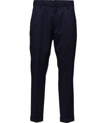 r2. the wide leg pant kostuumbroek formele broek blauw gant
