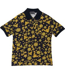 young versace polo shirt with baroque press