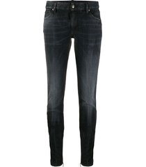 dsquared2 zippered ankle tapered trousers - black