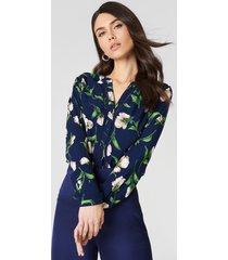 rut&circle damia flower blouse - blue