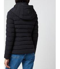 mackage women's andrea-rl hooded down jacket - black - xs