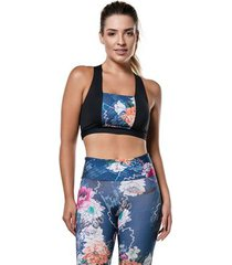 top sonic floral abusy - feminina