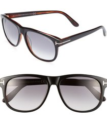 men's tom ford 'olivier' 58mm sunglasses - shiny black