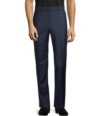 marzotto italian fabric-flat front wool pants