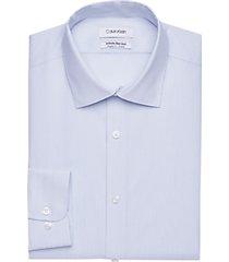calvin klein infinite non-iron blue stripe modern fit dress shirt