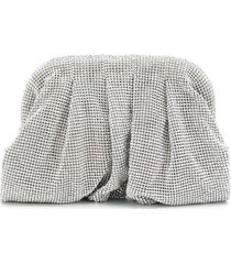 benedetta bruzziches crystal embellished small clutch - silver