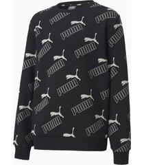 amplified sweater, zwart, maat 116 | puma