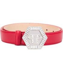 philipp plein statement belt - red