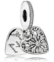 """charm pendente """"you melt my heart"""" (você derrete meu coração)"""