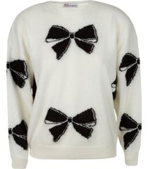 red valentino ribbon embroidered sweater