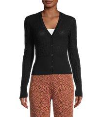 m missoni women's ruched cotton cardigan - black - size 40 (4)
