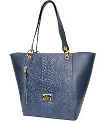 bolso dianora azul, femenino elaborado en cuero napa     lk - one by one