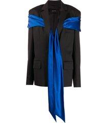simone rocha wraparound blazer jacket - black