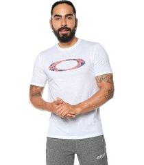 camiseta blanco-azul-rojo oakley