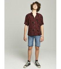 camisa bordó prototype zinnia boys