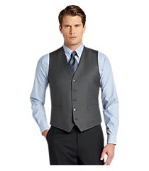traveler collection tailored fit sharkskin men's suit separate vest - big & tall by jos. a. bank