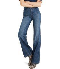women's madewell 11-inch high waist welt pocket flare jeans