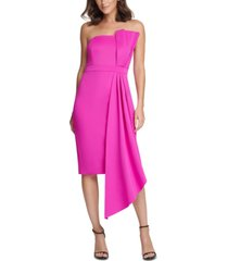 eliza j petite bow-front strapless sheath dress