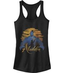 disney juniors' aladdin genie silhouette ideal racerback tank top