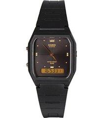 reloj casio clásico cuadrado aw-48he-1a para caballero- negro