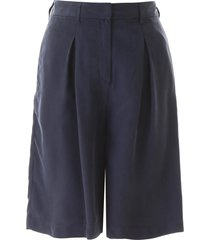 lautre chose satin bermuda shorts