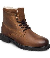 biadaren warm boot snörade stövlar brun bianco