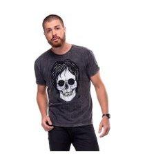 camiseta estonada skull lennon useliverpool masculina