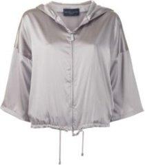 cropped silk bomber jacket