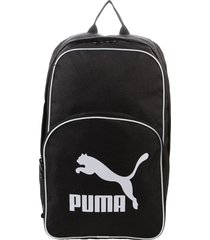 mochila negra  puma  originals backpack retro woven