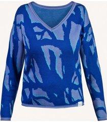 sweter z wełny merino w żakardowy wzór ringo