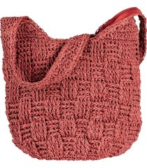 borsa shopper di paglia (rosa) - bpc bonprix collection