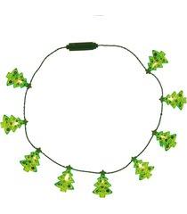 enfeite natal decorativo colar led lampada mini ãrvore 40cm - vermelho - dafiti