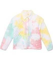 adelade jacket in rainbow radial tie dye