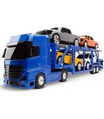 caminhão voyager cegonheira azul - roma