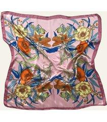 pañuelo rosa nuevas historias par de flores ba1396-24