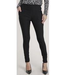 calça legging feminina com bolsos preta