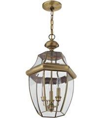 livex monterey 3-light outdoor chain lantern