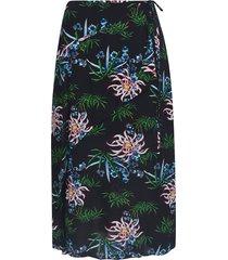 kenzo midi ruffle printed skirt