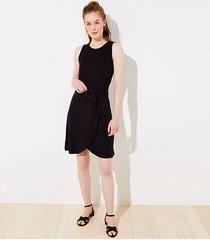 loft petite tortoiseshell print buckle belted wrap dress