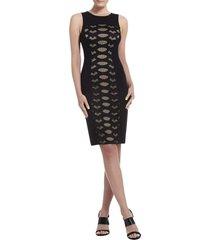 leona lace dress with contrast ponte dress