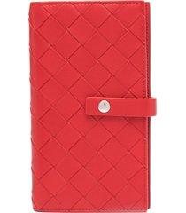 bottega veneta intrecciato woven-style iphone x case - red
