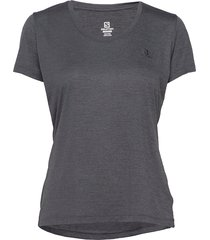 agile ss tee w t-shirts & tops short-sleeved grå salomon