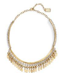 karine sultan fringe collar necklace in gold/silver mix at nordstrom